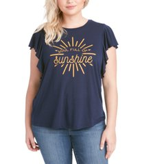 jessica simpson trendy plus size soul full of sunshine t-shirt