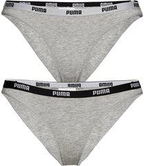 puma iconic bikini 2p trosa brief tanga grå puma