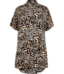 river island womens plus animal print shirt smock mini dress
