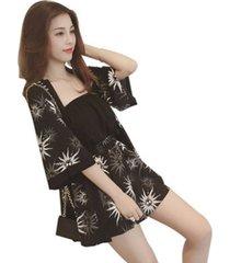 suelto de verano fresca pequeña traje elegante camiseta mujer pantalones traje de dos piezas