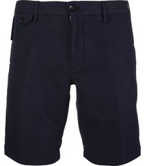 navy blue cotton and linen venezia 1951 man bermuda shorts