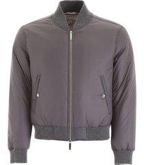 thom browne nylon bomber jacket