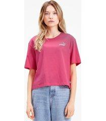 amplified t-shirt voor dames, roze, maat l | puma