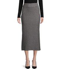walter baker women's ribbed skirt - charcoal - size s