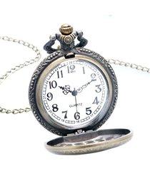 reloj bolsillo ac/dc rock campana cadena analogico cuarzo