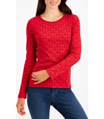 charter club cotton scottie dog top, created for macy's