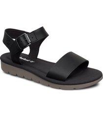 lottie lou 1-band sandal shoes summer shoes flat sandals svart timberland