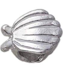 berloque papillô joias concha resinada, ródio branco prata