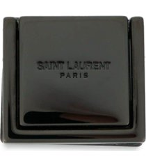 saint laurent engraved-logo phone support ring - red