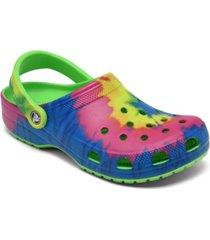crocs big kids classic tie dye clog shoes from finish line