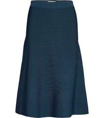 nubevin skirt knälång kjol blå nümph