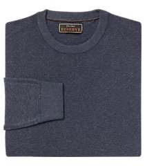 reserve collection cotton & silk crew neck men's sweater - big & tall clearance