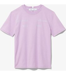 proenza schouler white label ps ny short sleeve t-shirt mauve/lilac logo/purple l