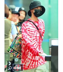 gd style peaceminusone pmo tie-dye long sleeves t-shirt baggy style top shirt