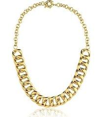 colar toque de joia corrente grossa ouro amarelo