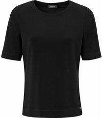 shirt met ronde hals van basler zwart