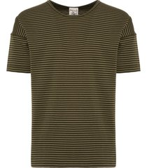s.n.s herning army moss original stripe t-shirt 881-s5463