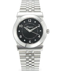 salvatore ferragamo men's stainless steel bracelet watch