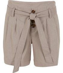 shorts con bottoni e cintura (marrone) - bpc bonprix collection
