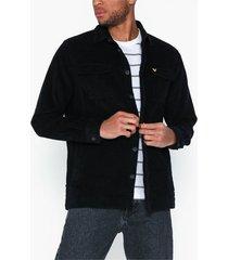 lyle & scott cord overshirt jackor true black
