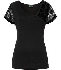 maglia con pizzo (nero) - bodyflirt