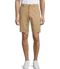 classic cotton blend chino shorts