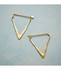 arrowhead hoop earrings