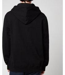 lanvin men's cat printed hoodie - black - l