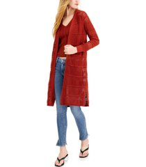bar iii cotton pointelle cardigan, created for macy's