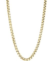 effy men's 14k goldplated sterling silver round box chain necklace