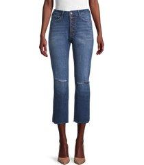 true religion women's starr high-rise ripped cut-hem jeans - blue hunter - size 24 (0)