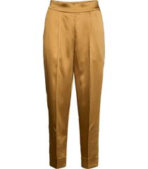 this elegant trousers are made from a luxurious po lyester s byxa med raka ben guld second female