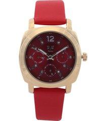 reloj rojo-dorado versace 19.69