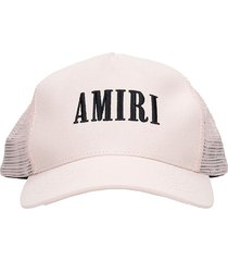 amiri core trucker hats in rose-pink cotton