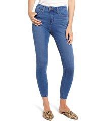 women's madewell curvy roadtripper denim leggings, size 33 - blue