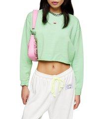 petite women's topshop watermelon crop sweatshirt