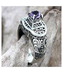 amethyst cocktail ring, 'javanese temple' (indonesia)