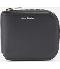 acne studios men's kei s compact zip wallet - black