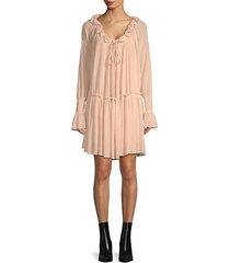 chiffon peasant dress