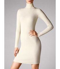 vestiti merino rib dress - 8596 - l