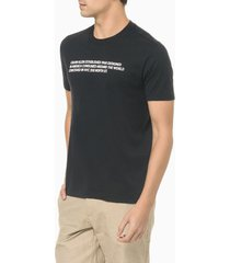 camiseta mc slim silk statement - preto - ggg