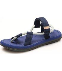 sandalias de playa con velcro para hombre - azul