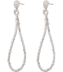 women's alexis bittar twisted linear pave crystal earrings