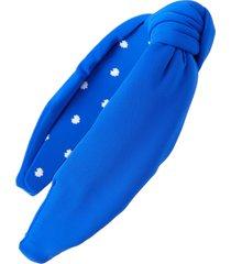 lele sadoughi neoprene knotted headband, size one size - blue
