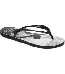 hav top photoprint shoes summer shoes flip flops svart havaianas