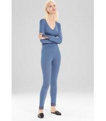 undercover pants pajamas, women's, blue, size l, josie natori