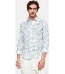 peninsula swimwear shirt cala dei gabbiani linen