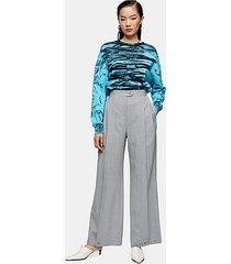 *gray wool blend pleated hem pants by topshop boutique - light grey