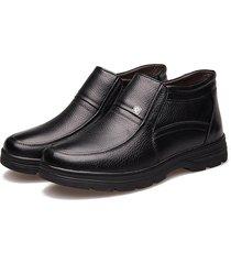 uomo scarpe formali basse slip-on in pelle a tenere comodo