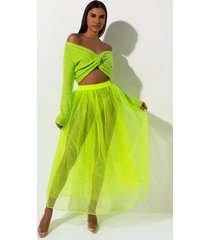 akira love is like wow mesh maxi skirt